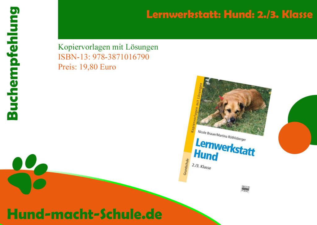 Buchempfehlung Schulhund- Schulhundausbildung